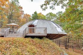 Round-dome-house | Interior Design Ideas. Airbnbs Most Popular Rental Is A Tiny Mushroom Dome Cabin 116caanroaddhome_7 Idesignarch Interior Design Pretty Modern Industrial Best Geodesic Home Decorating Classy Simple I Am Starting To Uerstand Soccer Balls Better Dome Sweet Idea Cicbizcom Fantastical Unique Homes Designs 1000 Images About Wow On 303 Best My Images On Pinterest Fresh Skylight 13178 Designs And Builds Shelters Interiors Photos Ideas