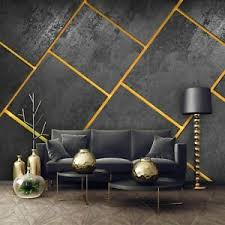 details zu vlies fototapete beton gold geometrisch stein modern wohnzimmer marmor 12