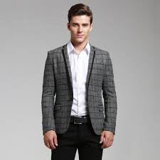 Men Casual New Fashion Trend Photo Loved This Jacket Stripped And Grey