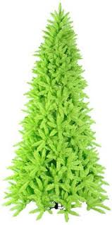 Vickerman Pre Lit Slim Lime Green Ashley Spruce Christmas Tree With Clear And Lights