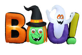 Gemmy Inflatable Halloween Train by The Holiday Aisle Halloween Inflatable Witch Ghost Boo U0026 Reviews