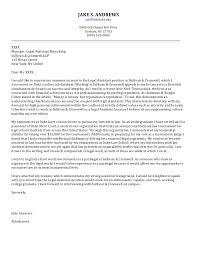 Senior Cover Letter Law JAKE S ANDREWS