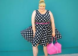 polka dot plus size dress pluslook eu collection