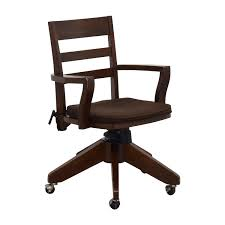 Pottery Barn Desks Used by 66 Off Pottery Barn Pottery Barn Wooden Swivel Desk Chair Chairs