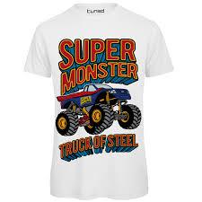 100 Monster Truck T Shirts Shirt Divertente Uomo Maglietta Con Stampa Ironica Super