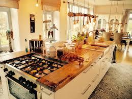 traumküche mit rustikaler arbeitsplatte küche mit