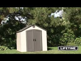 Rubbermaid Roughneck Shed Assembly by Lifetime 8x10 Plastic Storage Shed 6405 Youtube