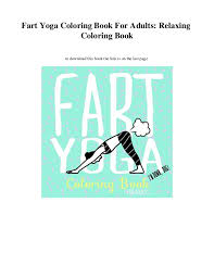 Fart Yoga Coloring Book For Adults Relaxing To Download This The Link
