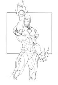 Iron Man 3 Mark 42 Coloring Pages