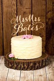 Custom Rustic Wedding Cake Topper By Better Off Wed Rustics On Etsy More