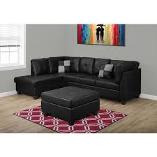 Presley Sectional Sofa In Black Living Room Sofas Vancouver