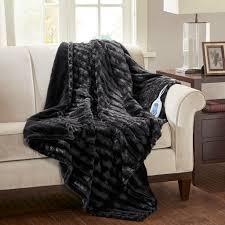 Beautyrest Heated Duke Faux Fur Heated Throw