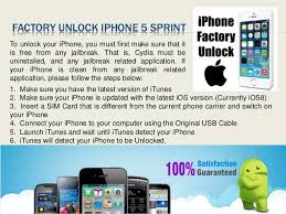 Factory unlock sprint iphone 5
