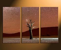 3 Piece Huge Canvas Print Home Decor Landscape Art Brown Large
