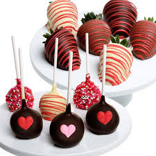 Valentine s Day Chocolate Covered Strawberries and Cake Pops