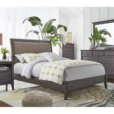 Full Sleigh Bed by Modus City Ii Upholstered Full Sleigh Bed In Basalt Gray 1x57l4d
