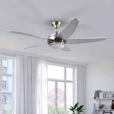 huishoudapparatuur led decken ventilator leise mit 2 x