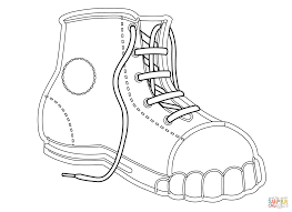 Click The Canvas Shoe Coloring Pages
