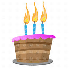 Birthday cake with candles Royalty Free Vector Clip Art