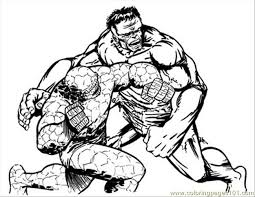 Coloring Pages Thing Hulk Lores Cartoons Free Printable