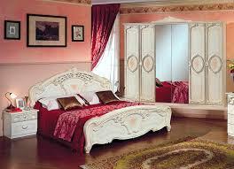 schlafzimmer set 4 teilig mit hochglanz oberfläche und reliefzier