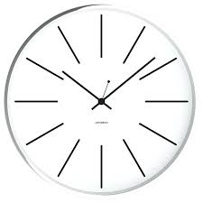 Chrome Wall Clock Square Jonsson White 12 Silent Contemporary Clocks Kitchen