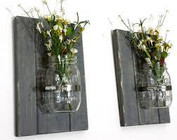Mason Jar Sconce Rustic Wall Decor Spring Flower