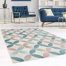carpet city teppich flachflor inspiration mit geometrischen muster marokkanischer stil mit pastellfarben blau rosa creme beige für wohnzimmer