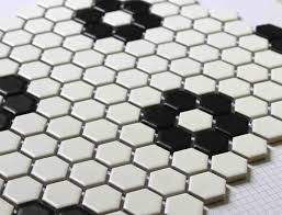 stylish hexagonal bathroom floor tile pattern furniture