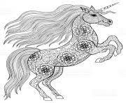 Adult Magic Unicorn Coloring Pages