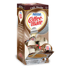 Coffee Mate Liquid Creamer Box Of 50 Creamy Chocolate Cafe Mocha