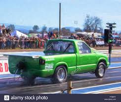 100 Redding Auto And Truck A Green Small Pickup Truck Gets The Green Light At The Drag