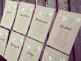 Table Plan Cards Individual Arrangement For Rustic Country Wedding Alternative