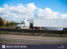 100 Aerodynamic Semi Truck Modern Aerodynamic Big Rig White Semitruck With A Trailer