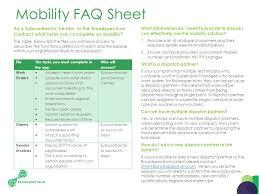mobility faq sheet as a subcontractor vendor to the broadspectrum