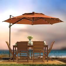 Solar Lighted Rectangular Patio Umbrella by Rectangular Patio Umbrellas With Solar Lights Home Outdoor
