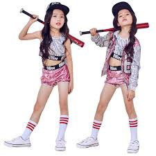 costume danse moderne jazz chinois hip hop paillettes enfants moderne jazz costumes de danse