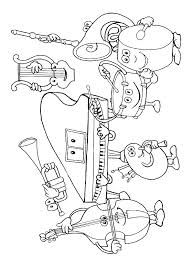 N 62 Coloring Pages Of Musical Instruments