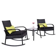 Amazon.com : Cloud Mountain Outdoor Furniture 3 Piece Wicker Rattan ...