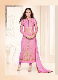sanjna by fiona un stitched salwar suits light pink attire house india
