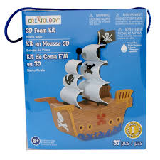 Michaels Art Desk Instructions by Creatology 3d Foam Kit Pirate Ship