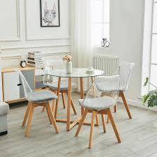 hj wedoo esstisch rund mit 4 stühlen für kaufland de