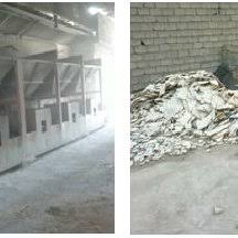 Marble Chips Storing A In Factory And B