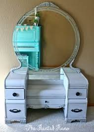 Waterfall Vanity Dresser Set by Vanity Makeovers 16 Different Sets Redone Art Deco Vanities