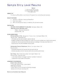 Sample Resume Of Waiter