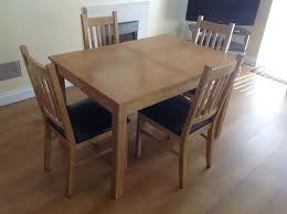 Table And Chair Gumtree Cucina Oak Finish Dining 4 Chairs