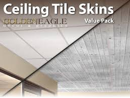 Ceilume Ceiling Tile Adhesive by Amazon Com Lot Of 6 2x4 Glue Up Ceiling Tile Skin White Washed