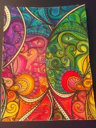 Finished Posh Coloring Book Pages Color Inspiration Love Doodles Completed