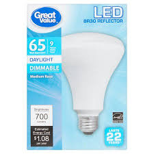 great value led dimmable br30 reflector e26 9w 65w equivalent