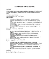 resume for firefighter paramedic firefighter resume template 7 free word pdf document